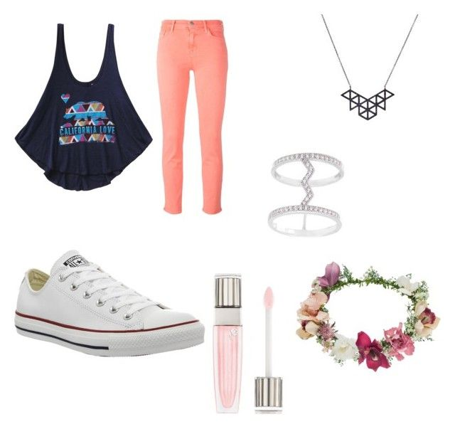 """California blue"" by hailey70707 ❤ liked on Polyvore featuring Billabong, J Brand, La Preciosa, Converse, Topshop and Lancôme"