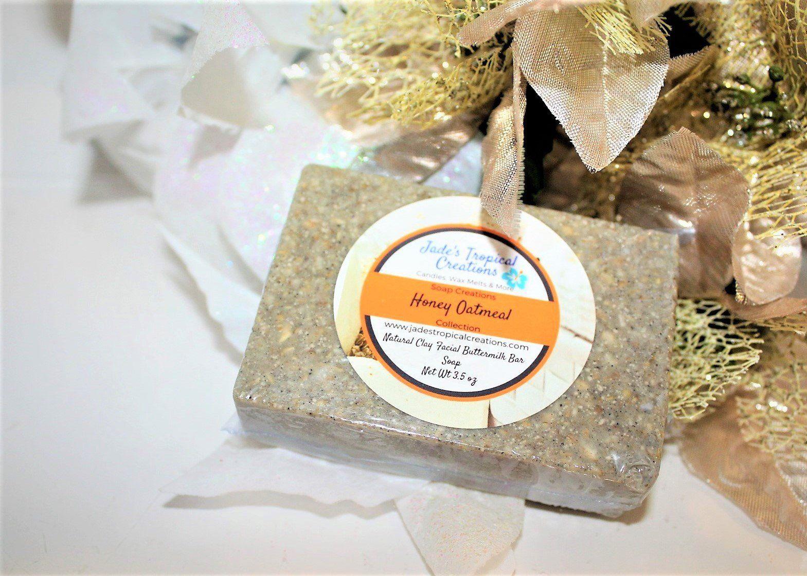 Set of 3 Soaps, Clay Facial Soap, Bentonite Clay Soap