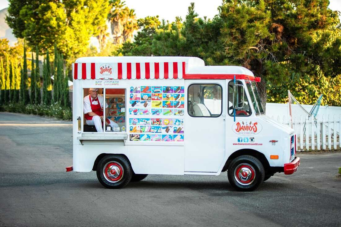 Classic san diego ice cream truck for your next event
