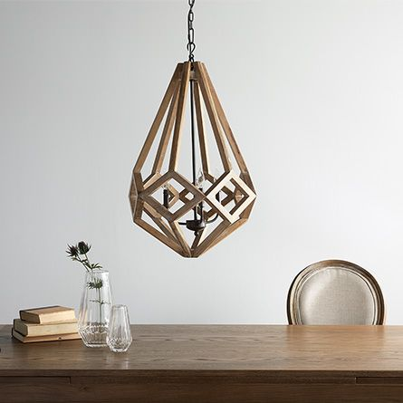 Wooden prism 22 chandelier with wrought iron candelabra wooden prism 22 chandelier with wrought iron candelabra aloadofball Image collections