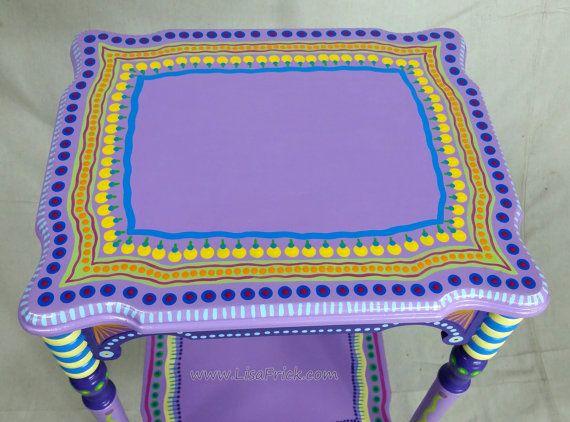 SOLD sample of CUSTOM WORK Vintage Side Table Custom by LisaFrick