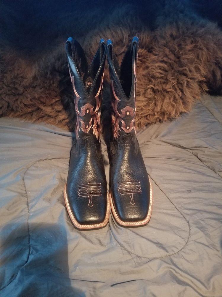 5f1cb727db550 Ariat Mens Cowboy Boot black Square Toe 10002227 Sz 12D #fashion ...