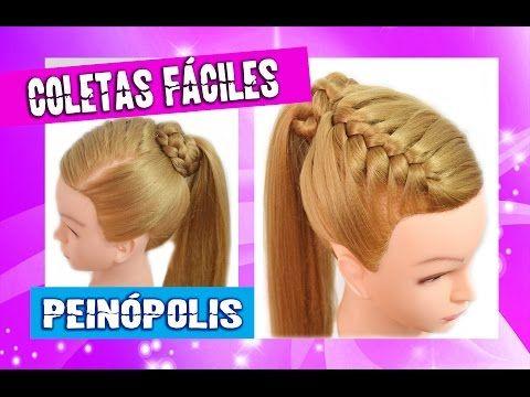 Peinados Faciles y Rapidos y Bonitos para Pelo Chino con Coletas con Trenzas  - YouTube bfeb96f78148
