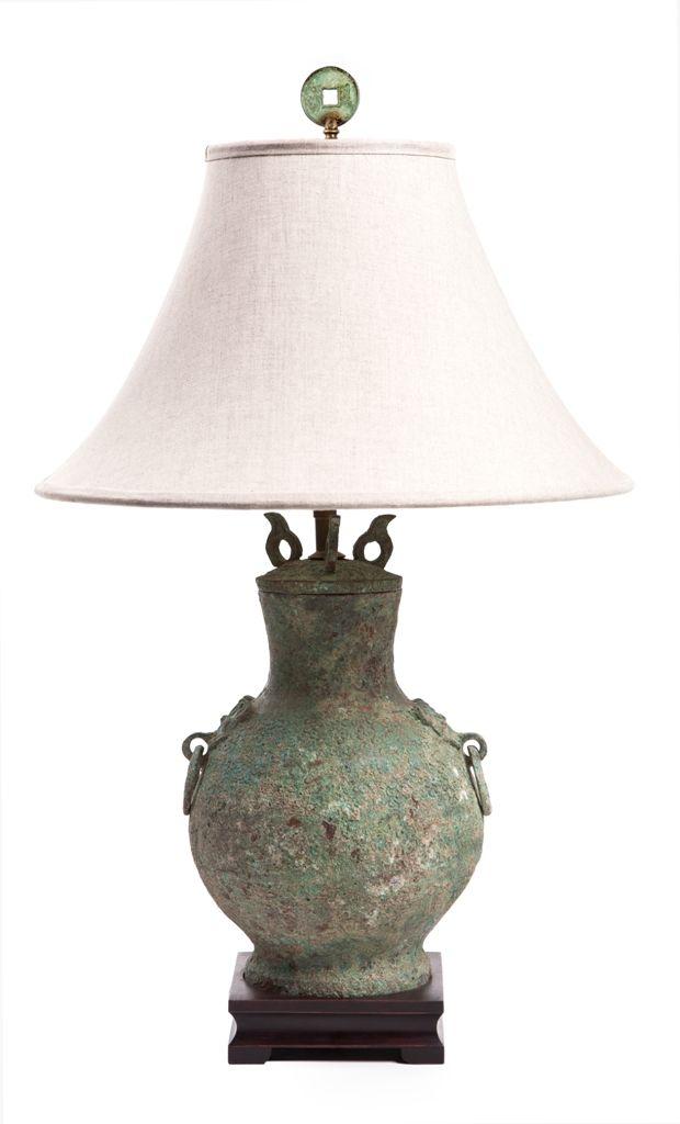 Antique Style Bronze Urn Lamp Lamp Decor Styles