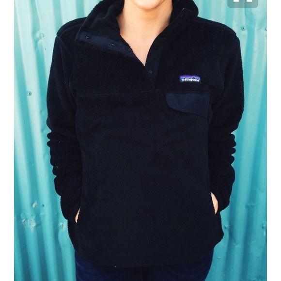 Black Patagonia Fleece Pullover | Patagonia fleece pullover ...