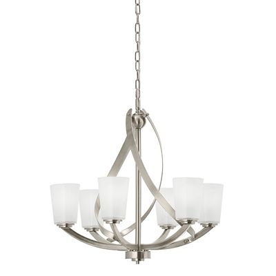 Kichler Dining Room Lighting Glamorous Kichler Lighting 2421In 6Light Brushed Nickel Country Cottage 2018