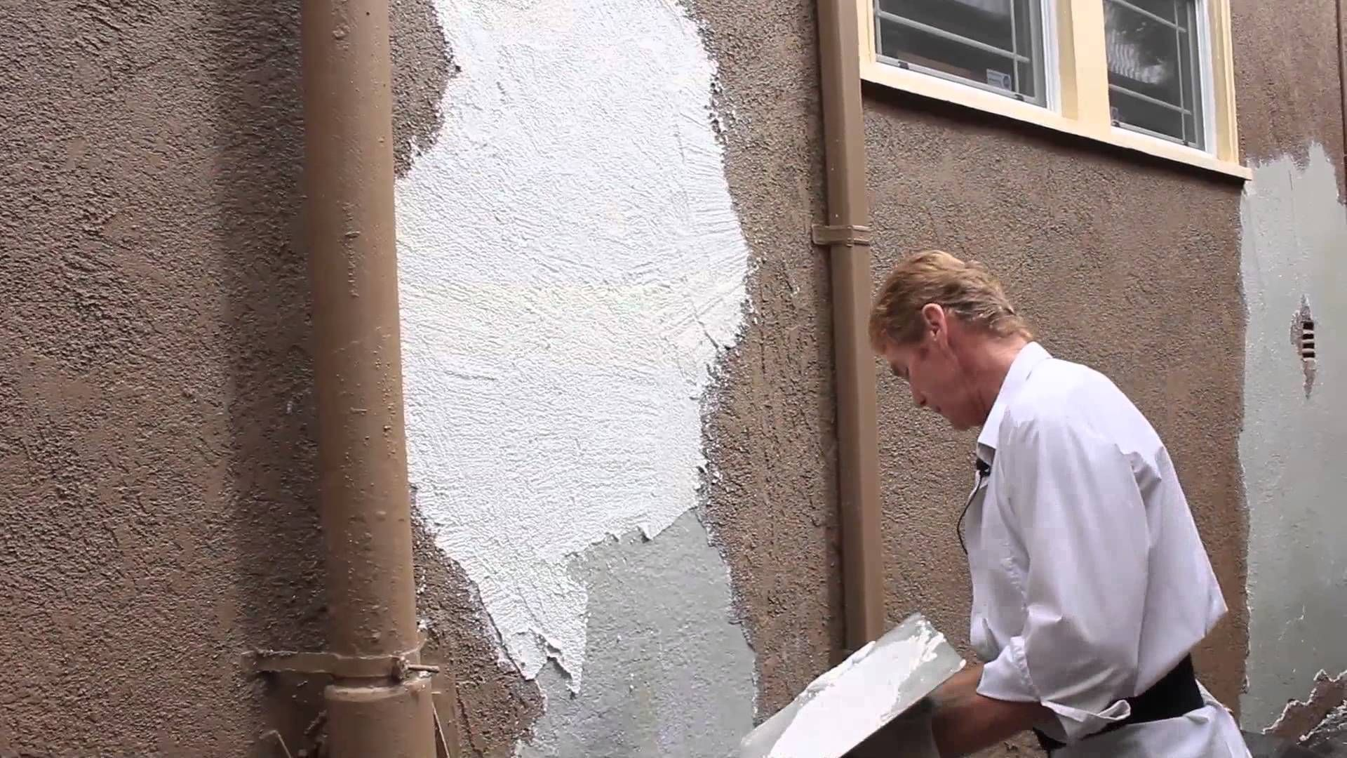 Remove Repair Re Plaster A Flaking Or Faulty Failing Color Coat Stucco Repair Stucco Paint Stucco