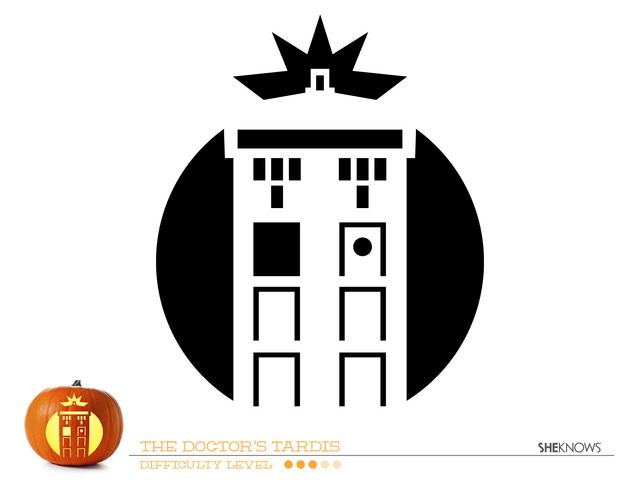 Doctor Who Tardis Pumpkin Carving Template  Free Printable