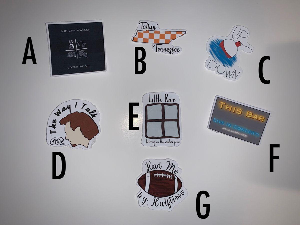 Morgan Wallen Vinyl Stickers Set 2 Etsy In 2020 Sticker Set Vinyl Sticker Vinyl
