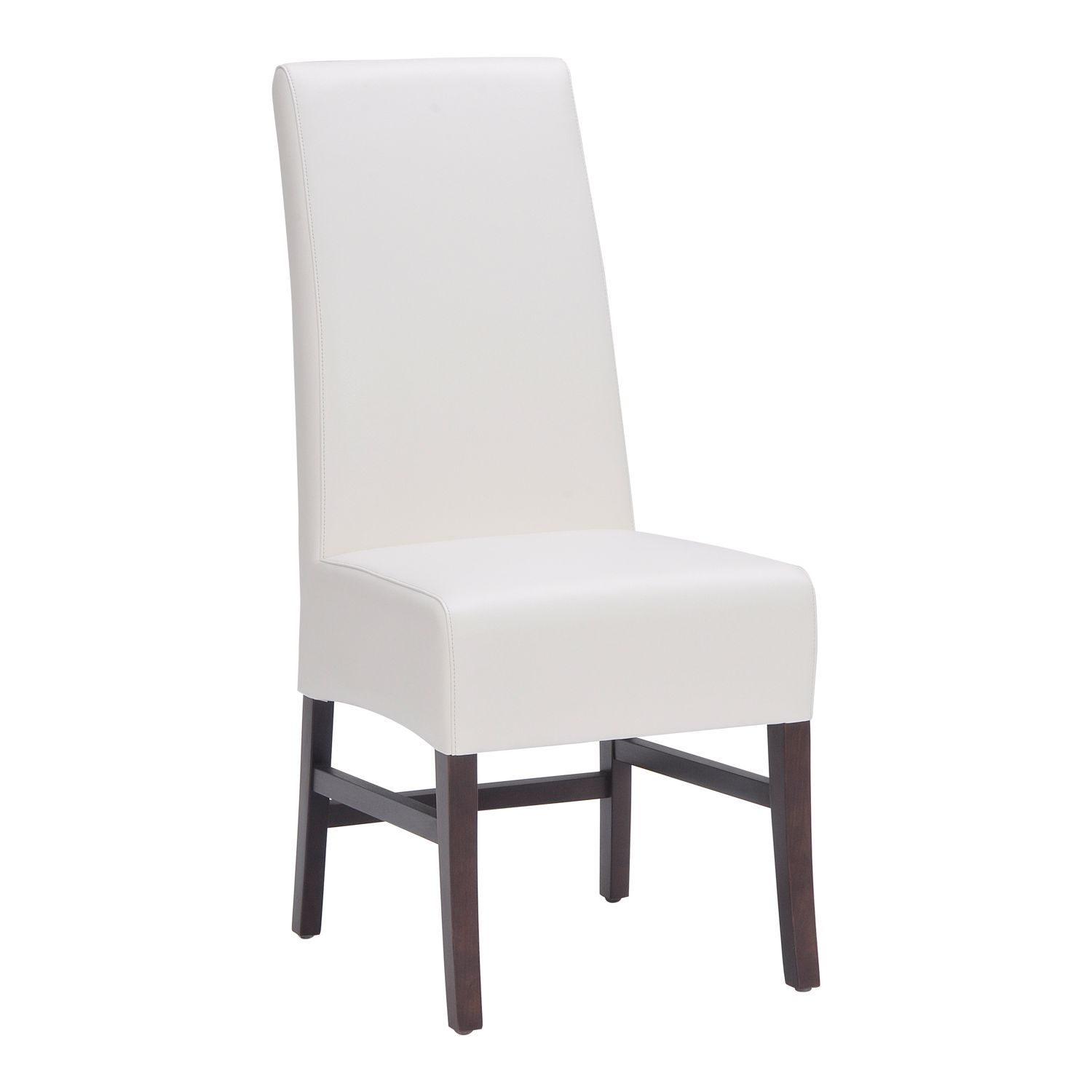 Habitat Dining Chair In Ivory Leather (Set Of 2) By Sunpan