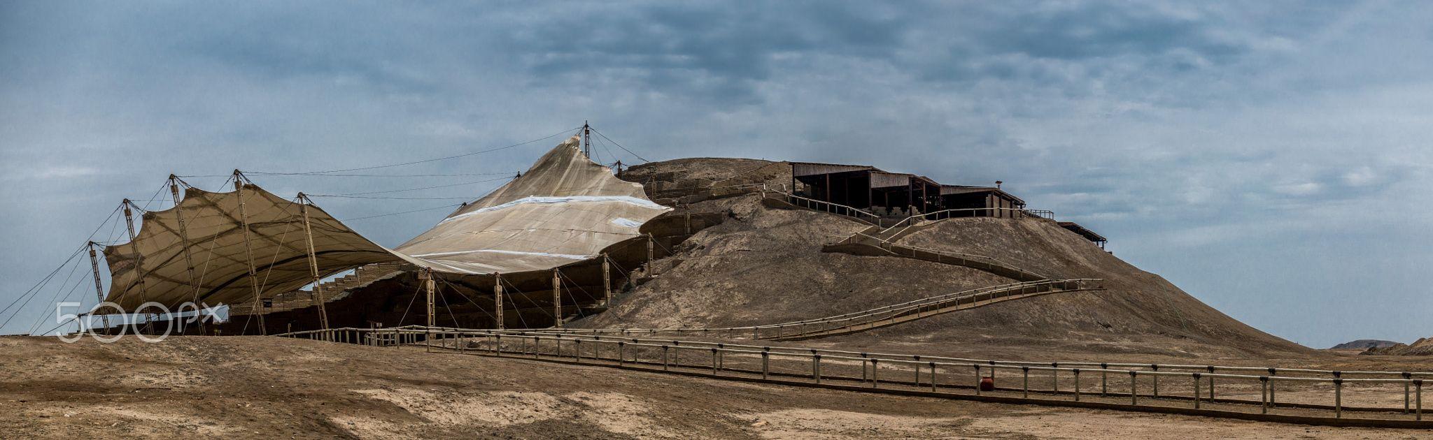 """El Brujo, Huaca Cao Viejo - The old pyramid or """"huaca"""" """"Cao Viejo"""" at """"El Brujo""""."""