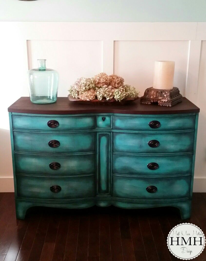 chalk painted teal dresser console table credenza romantic french rh pinterest com