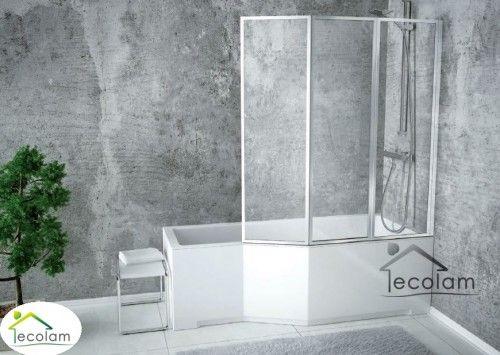Badewanne Eckwanne Integra 150x75 cm Glasabtrennug rechts ...