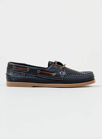 Navy Leather Boat Shoes - Casual Shoes - Shoes and Accessories