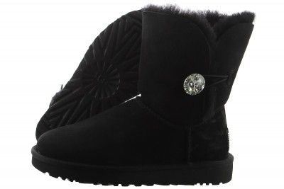 UGG Bailey Button Bling 1016553-BLK Women  38fed391be