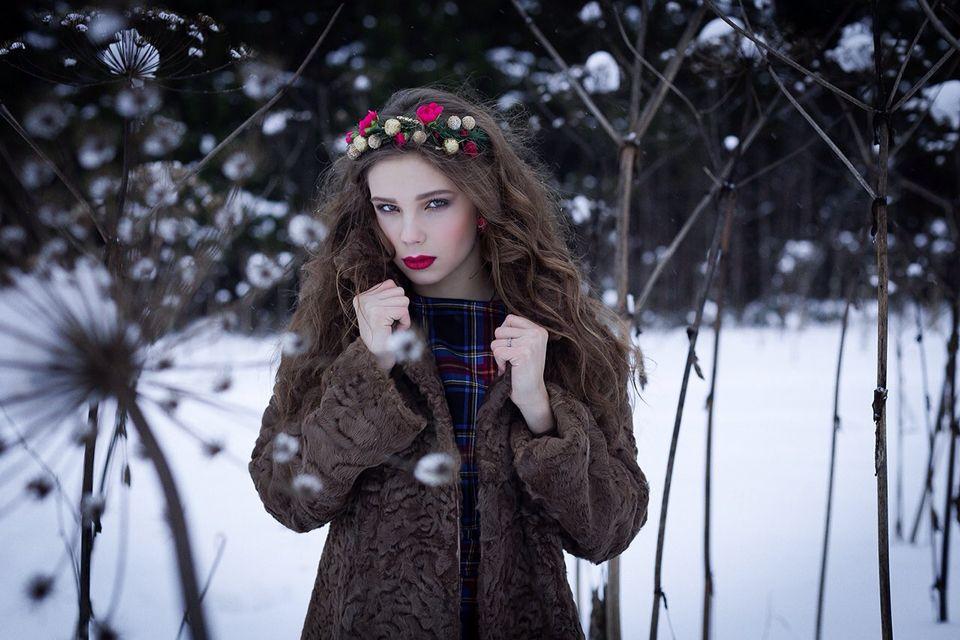Зимняя фотосессия с зеркальным фотоаппаратом