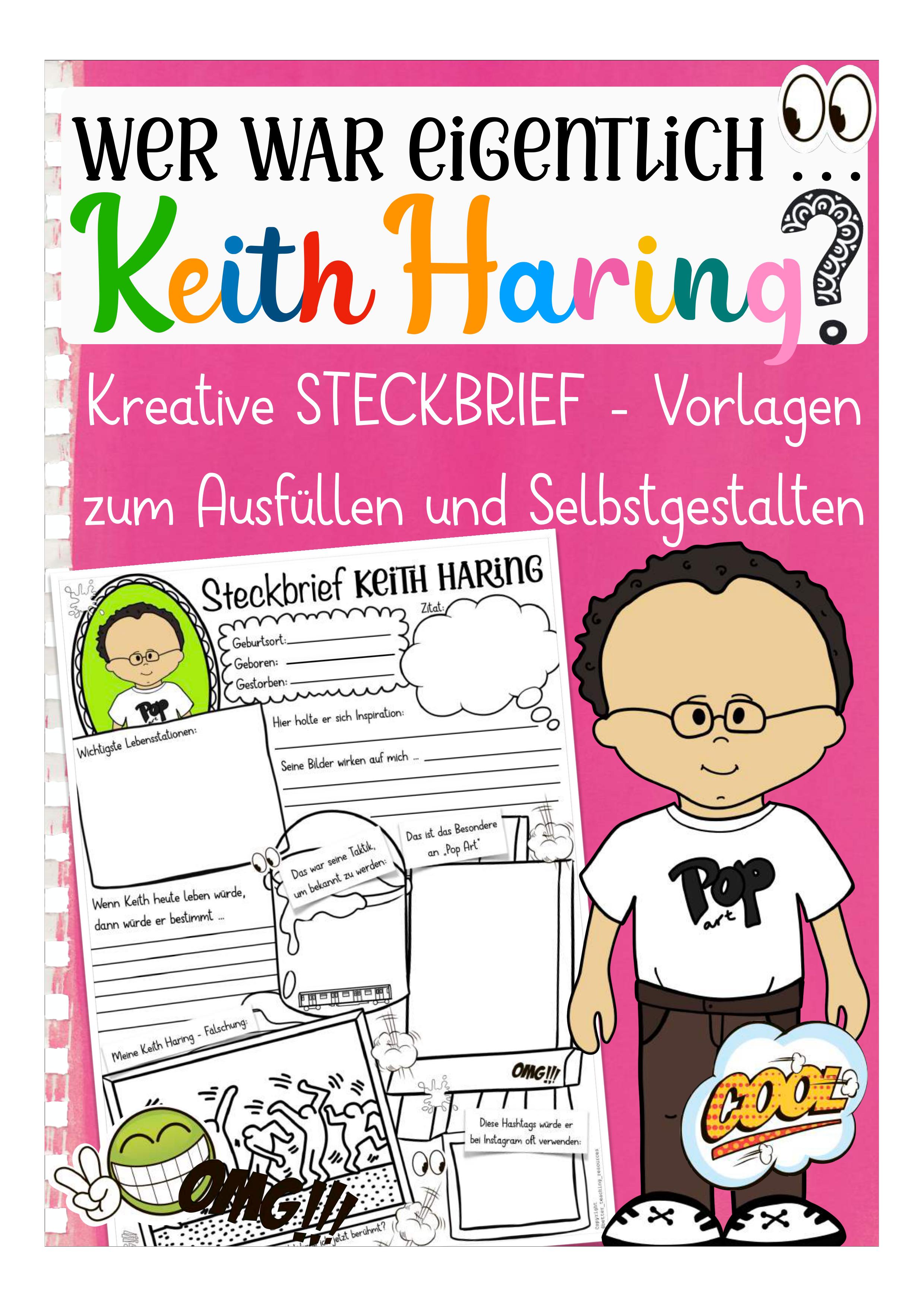 Keith Haring Steckbrief Unterrichtsmaterial Im Fach Kunst Keith Haring Kunstunterricht Kunstler Grundschule