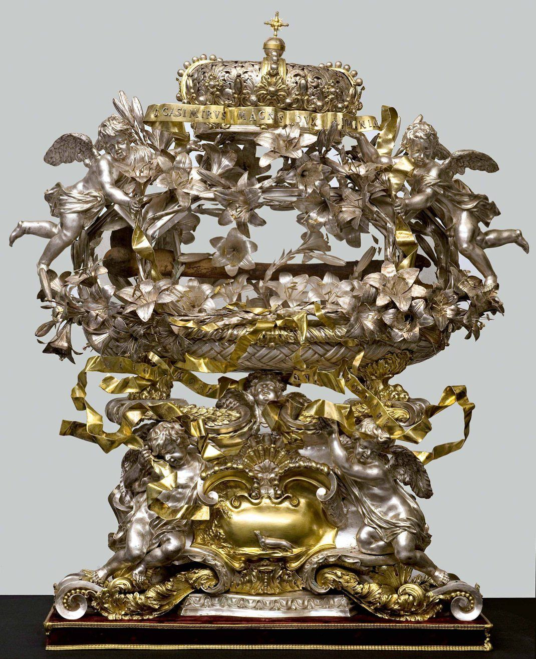Massimiliano Soldani Benzi (Montevarchi, 1656 – Galatrona, 1740), Reliquary of St. Casimir, 1687-1688; repoussé, chased, engraved, partly gilded silver, some parts cast. Firenze, Museo delle Cappelle Medici.