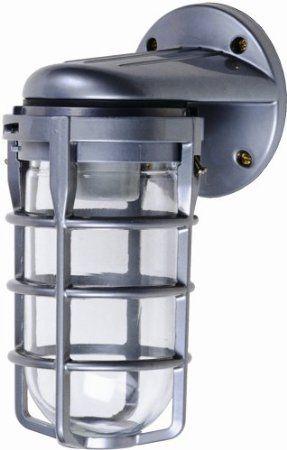 Designers Edge L1707 Outdoor Weatherproof Wall Mount Light Fixture With Metal Cage Bulb Protector 150 Watt 25