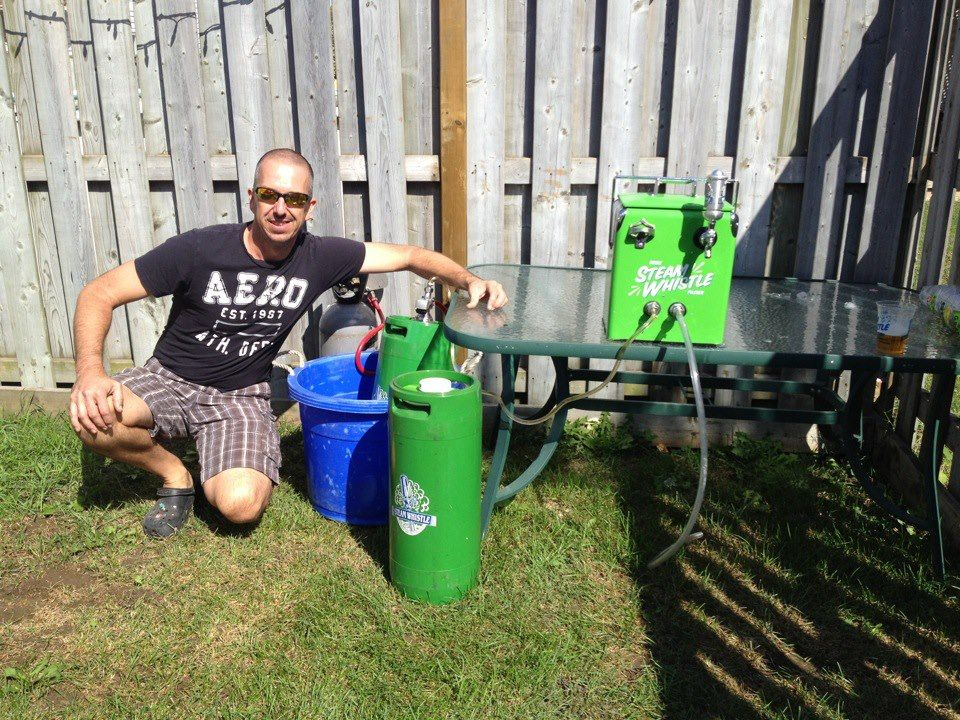 Chad Recently Bought A Keg Of Steamwhistle For His Backyard Party And Then Ordered Second
