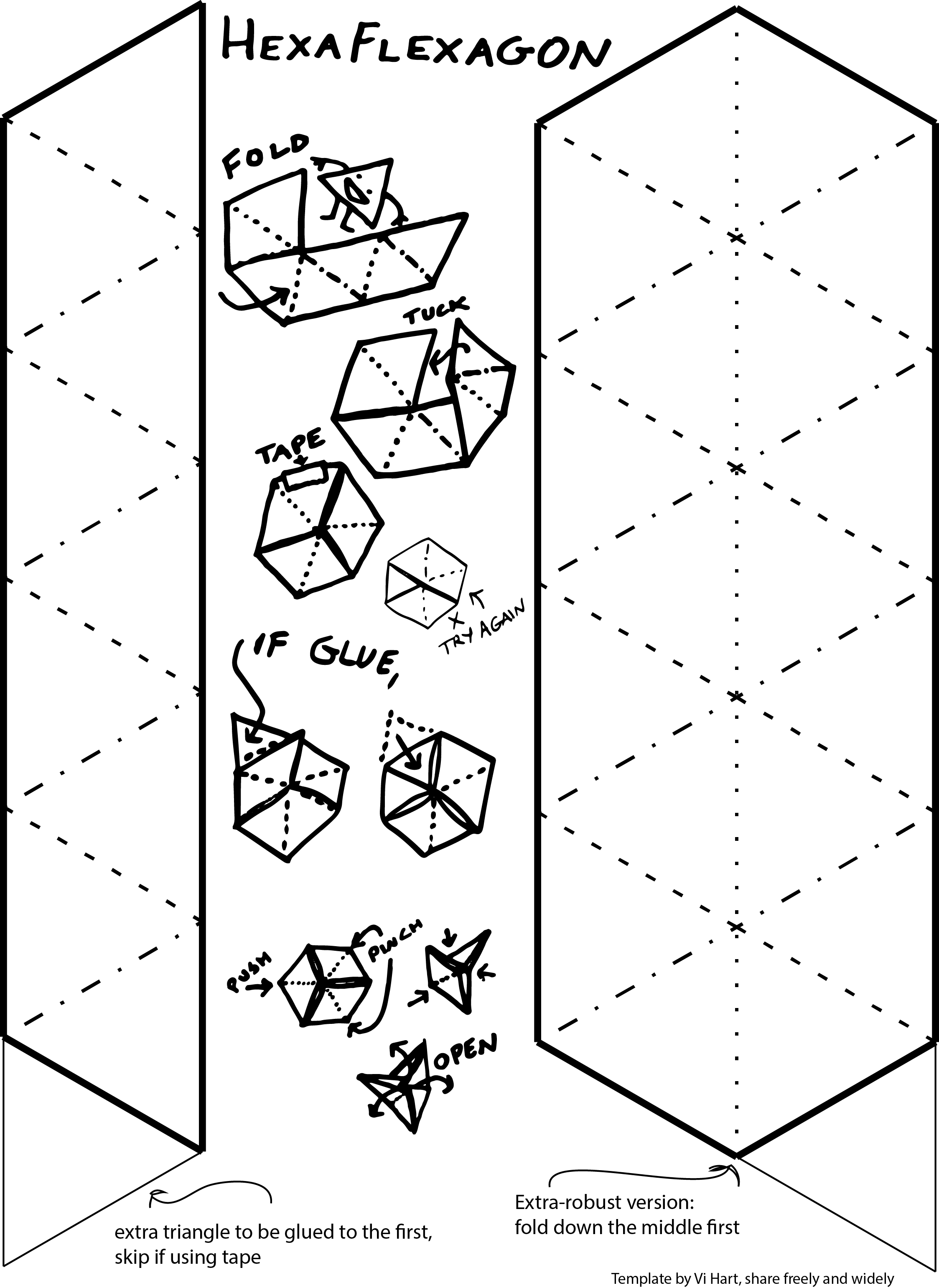 Hexaflexagon Template Blank