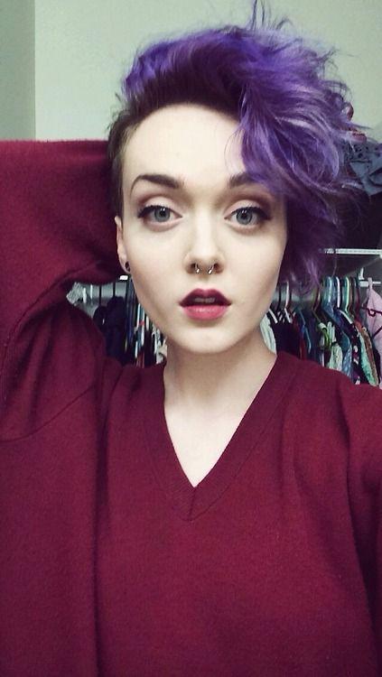 purple pixie cut hair short