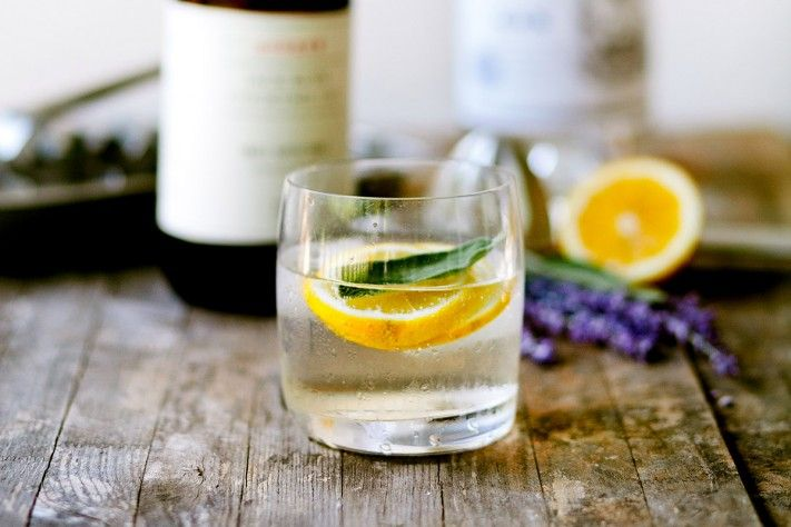 gin & tonic + lavender sage honey syrup