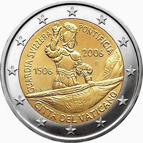 2 Euro Vatican City 2006 500th Anniversary Of The Swiss Guard