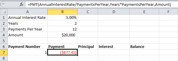 Loan Amortization Schedule In Excel  Amortization Schedule