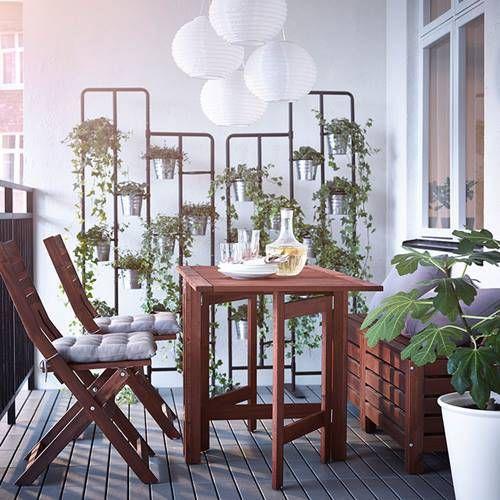 Muebles de terraza para espacios peque os by ikea for Mobiliario de terraza ikea
