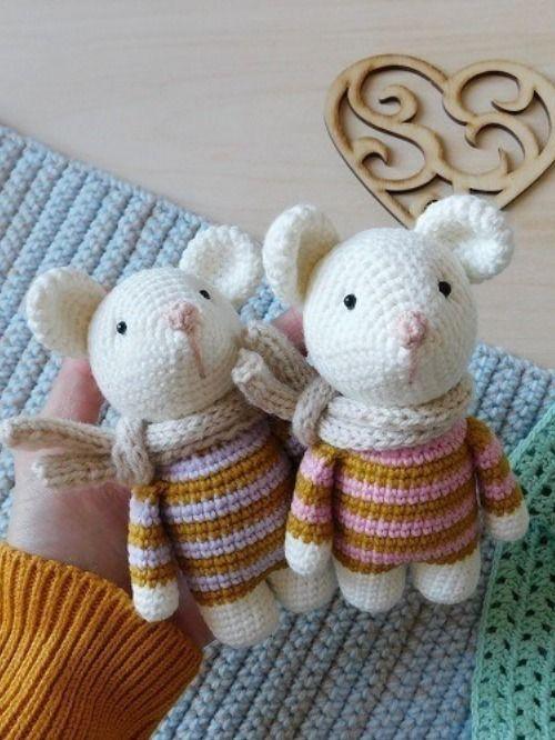 FREE amigurumi mouse pattern #amigurumis