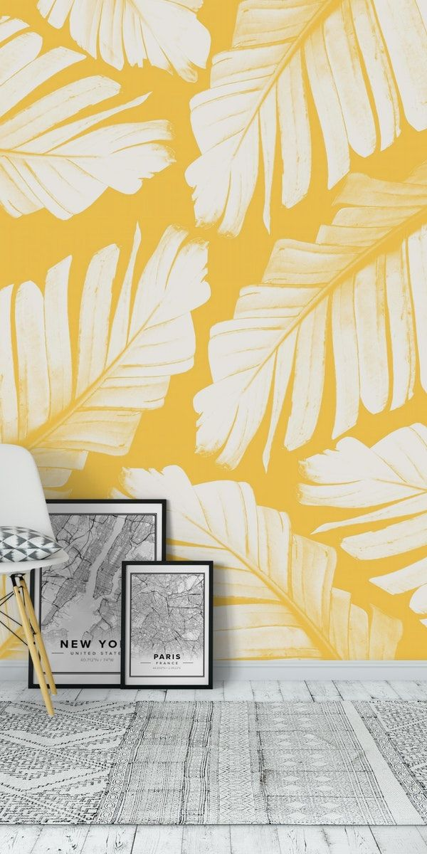 Yellow Banana Leaves Dream 1 Wall Mural From Happywall Collage Wallmural Photography Le Creative Wall Painting Asian Paints Wall Designs Wall Paint Designs