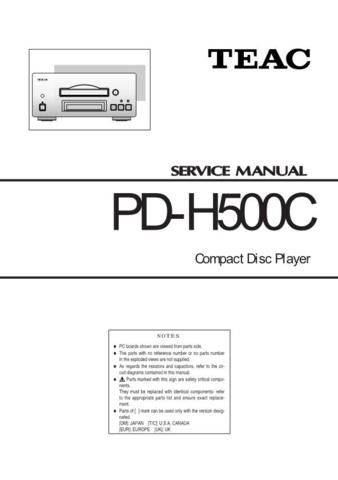 teac compact disc player pd h500c service manual download service rh pinterest com pioneer cd player repair manual Bose CD Player Repair Service