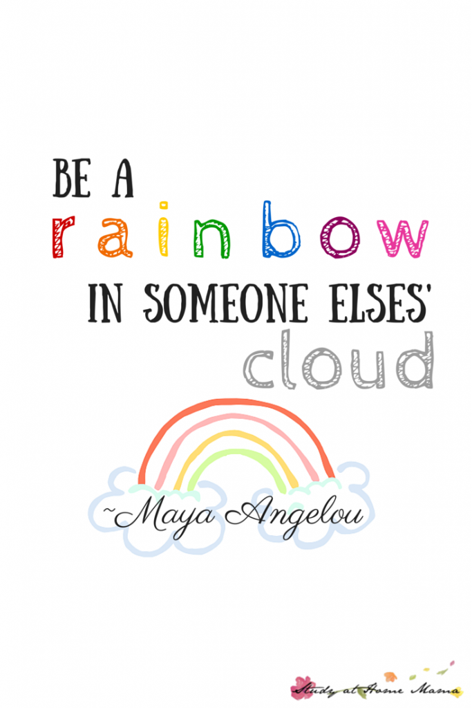 Be A Rainbow in Someone Else\'s Cloud Printable | Classroom ...