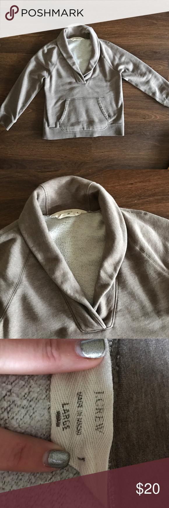 Jcrew light brown sweatshirt (L) Jcrew light brown sweatshirt, size large J. Crew Sweaters Crew & Scoop Necks