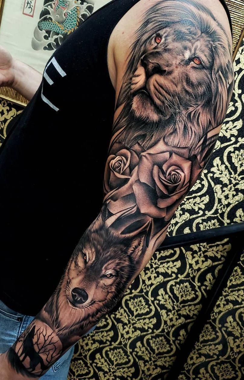 Beautiful Lion Tattoo Ideas C Tattoo Artist Boby Tattoo Beautiful Lion Tattoo Idea Nature Tattoo Sleeve Animal Sleeve Tattoo Lion Head Tattoos
