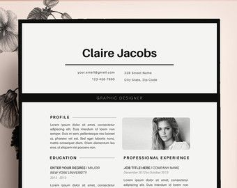 Creative Resume Template Cv Template Instant  Cvdesignco  Etsy