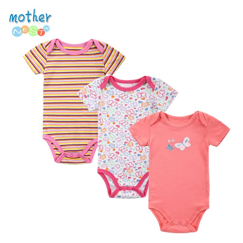 ca643dd6d8f3 3 PCS 2017 Baby Boy Girl Short Sleeve Cotton Romper Children O-neck ...