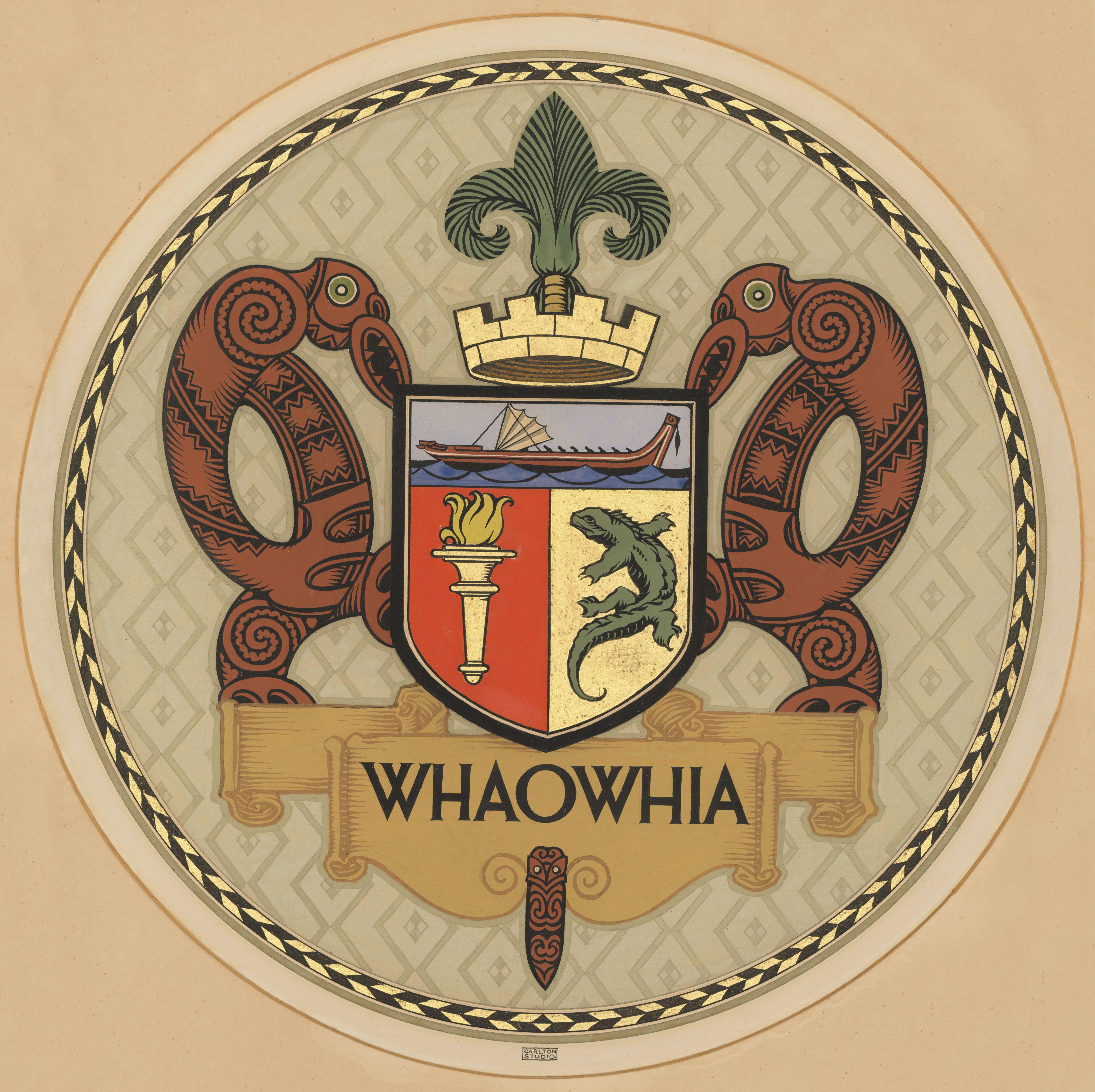 Whaowhia Auckland Museum And Institute Coat Of Arms
