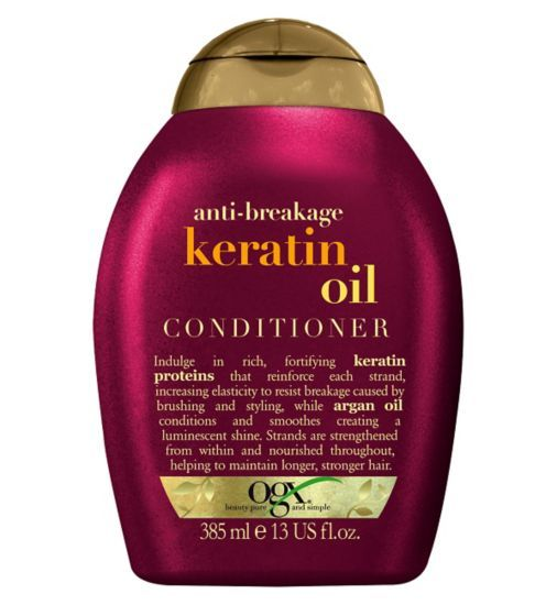 Ogx Anti Breakage Keratin Oil Conditioner 385ml Boots Keratin