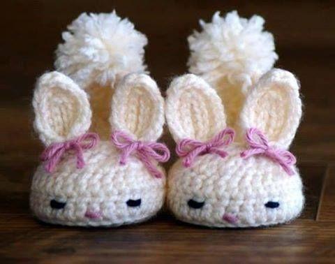 1060f660 Patrón #970: Zapatitos Conejo a Crochet | CTejidas [Crochet y Dos Agujas]