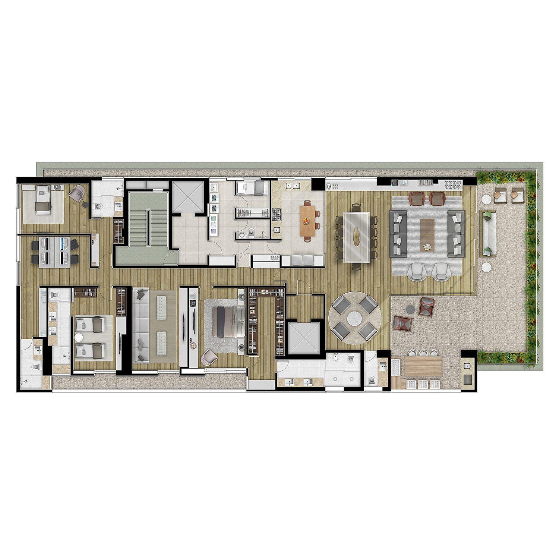 Oka Fachada Verde Projeto Arquitetura Arquitetonico