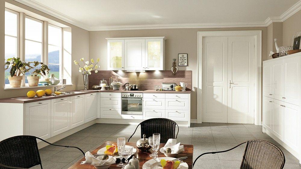 Landhausküche weiss Nobilia Küche Pinterest - küche welche farbe