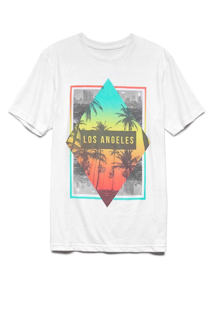 Shirt design los angeles - Neon Los Angeles Tee 21 Men Graphictee La Foreverfest