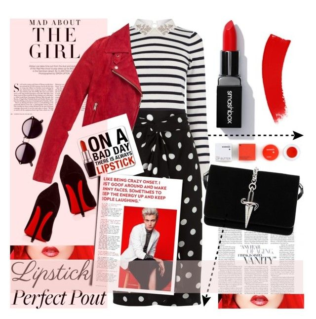 """""""Fall trend: Red LIPS"""" by sweta-gupta ❤ liked on Polyvore featuring beauty, Kershaw, Oasis, Andrea Marques, Andrew Marc, Korres, Christian Louboutin, Cesare Paciotti and REDLIP"""