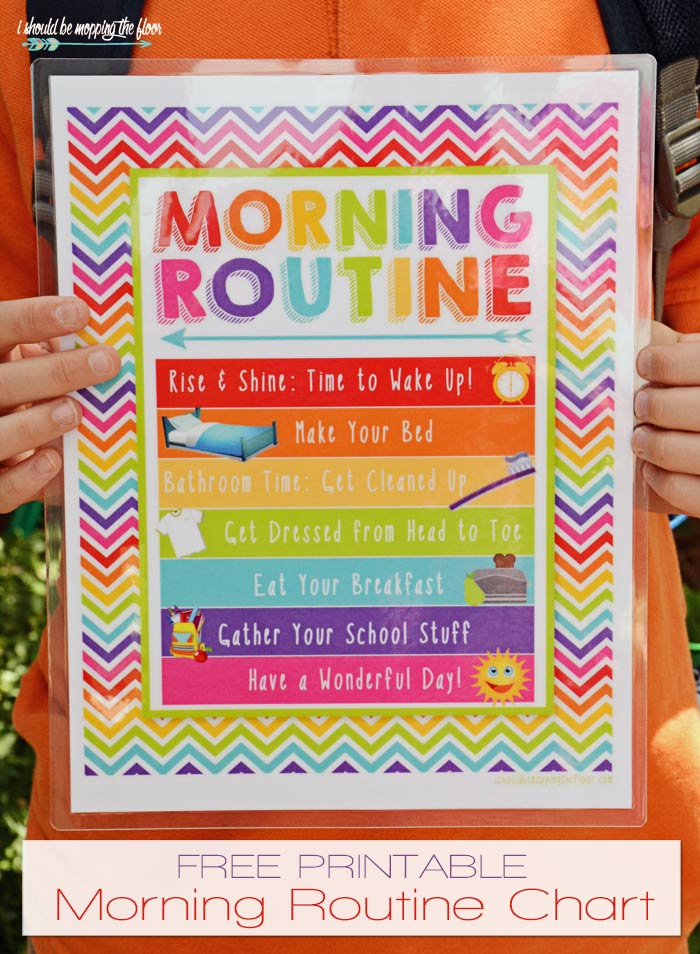 Free Morning Routine Printable #morningroutine