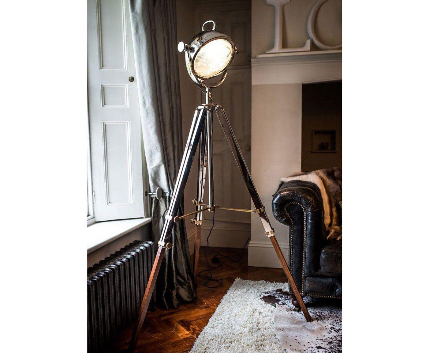 Lampada da terra Rolls argento Westwing Lampade