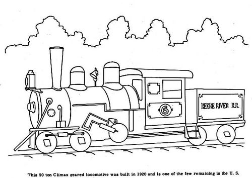 Coloring Page Steam Locomotive Train Coloring Pages