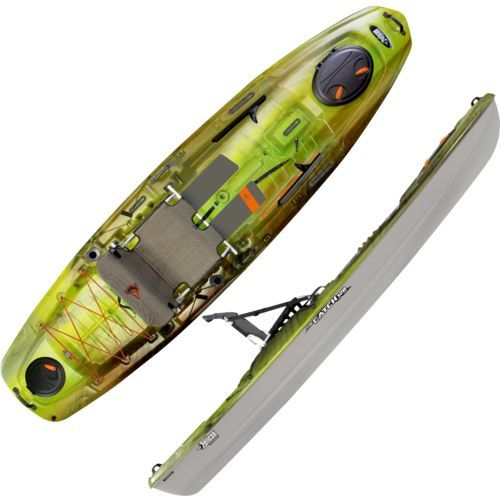 Pelican premium the catch 120 nxt 11 39 8 fishing kayak green for Academy sports fishing kayaks