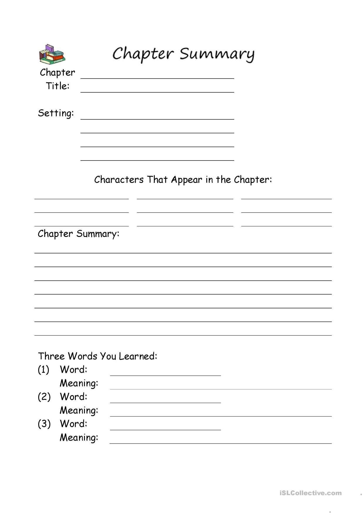 One Click Print Document Chapter Summary Summarizing Worksheet Summary Writing [ 1752 x 1239 Pixel ]